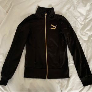 Black and Gold Puma Zip Up sweater